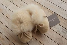 £39.99 - Alpaca fur boots 6m+ Champagne or Snow - toasty toes