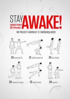 Stay Awake Workout
