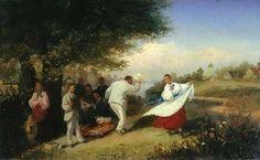 СОЛОМАТКИН, ЛЕОНИД ИВАНОВИЧ«Пикник» 1882. Холст, масло. 38 x 64 см Одесский художественный музей .
