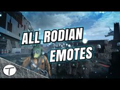 All Rodian in-game emotes || Todos los gestos del Rodiano || Star Wars B...