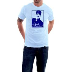 Good Moaning T-shirt. Allo Allo Police Tribute Cotton by SillyTees