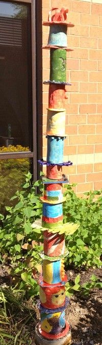 grade art – Totem Poles – Legacy Project – Hobbies paining body for kids and adult Recycled Garden Art, Recycled Art Projects, 3d Projects, Project Ideas, Art Totem, Middle School Art Projects, School Ideas, Legacy Projects, 6th Grade Art