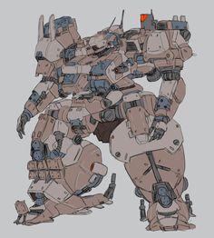 Space Mech Similar to Gundam オトワリ