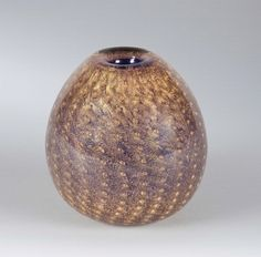 Carlo Scarpa Venini, Murano, 1934 ca Carlo Scarpa, Murano Glass Vase, Gold Leaf, Industrial Design, Glass Art, Bubbles, Ceramics, Vintage, Passion