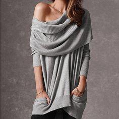 Victoria's Secret Multi-Way Sweater/grey/size S Great condition Victoria's Secret Sweaters Crew & Scoop Necks