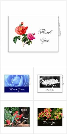 Thank you greeting cards, postcards and stamps
