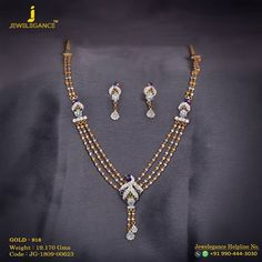 Gold 916 Premium Design Get in touch with us on Gold Chain Design, Gold Ring Designs, Gold Earrings Designs, Gold Jewellery Design, Gold Necklace Simple, Gold Jewelry Simple, Necklace Set, Indian Jewelry Earrings, Bridal Jewelry