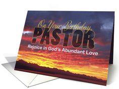 Pastor Birthday Sunset Card Mens Cards Diy Greeting Priest