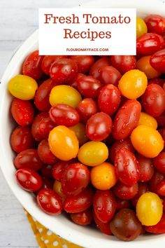25 Garden Fresh Tomato Recipes Fresh Tomato Recipes, Vegetable Recipes, Vegan Vegetarian, Vegetarian Recipes, Cooking Recipes, Tomato Garden, Recipe Using, Farmers Market, Food Dishes