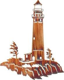 "Metal Wall Art ~ 24"" Lookout (Lighthouse Revised)"