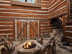 Find this fire pit on Realtor.com  #outdoors #firepit #western #design #decor
