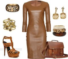 """Leather"" by carolwatergirl on Polyvore"