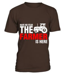 Have No Fear The Farmer Is Here  #gift #idea #shirt #image #funny #job #new #best #top #hot #engineer