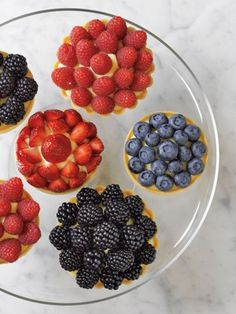 Recipes from The Nest - Fresh Berry Tartlets. Red white and blue desserts