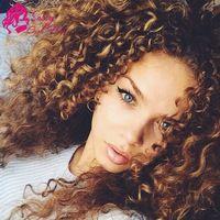 Peruvian Curly Hair 4Bundles Extension Grade Curly Weave Human Hair Two Tone Cheap Unprocessed Virgin Peruvian Hair Bundle Ombre
