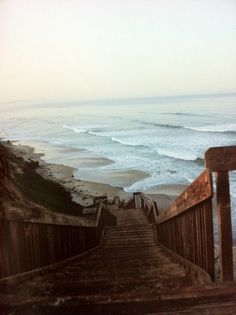 You know it's a good beach when there's a long, steep staircase to the bottom.