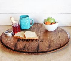 Use from one of barrels for kitchen table