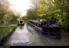 Narrowboats on the South Oxford Canal, Heyford, Oxfordshire