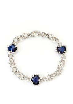 JUDITH RIPKA Three-Stone Link Bracelet