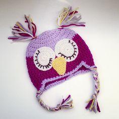 vingesus_julebrus:Webstagram : Owlbeanie, crochet Knit Crochet, Crochet Hats, Winter Hats, Knitting, Knitting Hats, Tricot, Breien, Ganchillo, Stricken