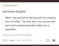 You hear that? Y'all are big, strong, beautiful superheroes. Never forget it!