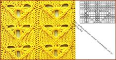 View album on Yandex. Lace Knitting Patterns, Knitting Charts, Knitting Stitches, Knitting Needles, Stitch Patterns, Knit Crochet, Crochet Hats, Needlework, 3 D