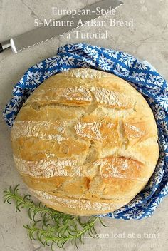 European Style 5 Minute Artisan Bread Tutorial. Delicious and yield just one nice size loaf!