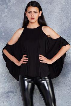 Bat-terfly Top ($80AUD) by BlackMilk Clothing