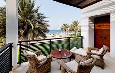 Chedi Club Suite Balcony. Chedi Muscat. © GHM Hotels