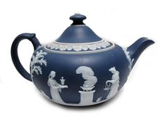 Wedgwood Jasperware Dark Blue Teapot from Woodstock Antiques