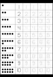 tracing worksheet numbers 1-10 - Google Search