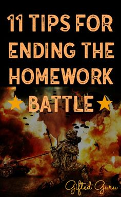 Ending The Homework Battle What do you do when your child won't do schoolwork without an epic battle every.single.day? What happens if you throw gifted in the mix, just for fun? Motivation is a tricky thing, and every child is different, but here are 11ideas for how to get kids to do homeworkwithout raising your …