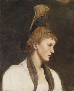 Woman in profile with gold cap  Eduard Veith