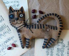 Primitive cat Extreme primitive folk art doll The unique gift fragrant handmade Big cat Vasya.