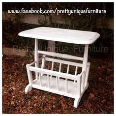 """""""#asap #anniesloan #chalkpaint #distressed #distressedfurniture #etsy #forsale #handpainted #instahome #loveit #magazinerack #morethanpaint #oldwhite #paintedfurniture #prettyuniquefurniture #refurbished #shabby #shabbychic #table #upcycled #vintage"""" Photo taken by @prettyuniquefurniture on Instagram, pinned via the InstaPin iOS App! http://www.instapinapp.com (01/28/2015)"""