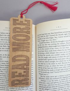 11da3dc7b87b71 READ MORE Bookmark Laser Engraved Alder Wood by JuniperandIvy Bookmarks For  Books