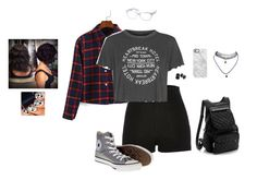 """The Quirky, Awkward One"" by hanakdudley ❤ liked on Polyvore featuring River Island, Topshop, Converse, Ray-Ban, Uncommon, Wet Seal and Paul Mitchell"