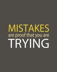 Mistakes.