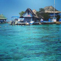 Islas del Rosario - Archipelago of 30 islands in Colombia's Caribbean - off Cartagena.