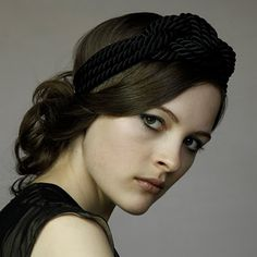 This headband is made of sailor's rope!  Edgy but elegant! Gotta have it!