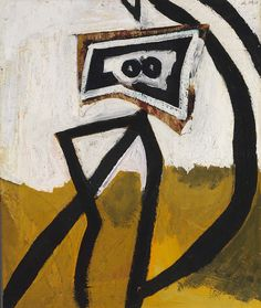 cavetocanvas:  Robert Motherwell, Figure in Black (Girl with Stripes), 1947 From the Smithsonian American Art Museum:  Robert Motherwell exp...