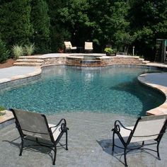 Browse swimming pool design ideas for the perfect pool for your home. Discover pool deck ideas and landscaping options to create your dream swimming pool Beach Entry Pool, Backyard Beach, Backyard Pool Designs, Backyard Paradise, Swimming Pools Backyard, Swimming Pool Designs, Pool Landscaping, Beach Pool, Backyard Ideas