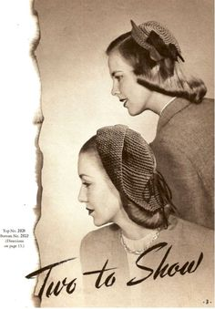how to make Hats From The 1940S | 1940's Fashion - young woman's wardrobe plan | Glamourdaze