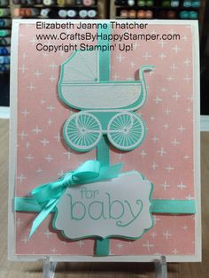Stampin Up baby shower card idea from the Something for Baby and B.Y.O.P. stamp sets 1 sheet wonder