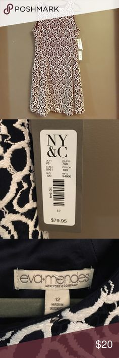 Eva Mendes NY&C size 12 dress NWT this elegant Eva Mendes dress is perfect for any event. Turn heads . Beautiful crochet detail.  Fully lined. Eva Mendes Dresses Midi