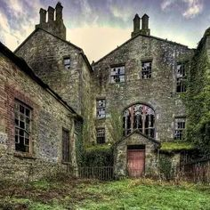 Abandoned manor house County Tyrone, Northern Ireland
