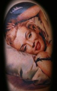 I love Marilyn Monroe so naturally I love Marilyn Monroe Tattoos, this one is a beauty.