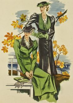 Pin by women's fashion on coats and capes in 2019 мо 1930s Fashion, Fashion Sewing, Art Deco Fashion, Retro Fashion, Vintage Fashion, 1940s Woman, Girl Face Drawing, Art Studio Organization, Commercial Art