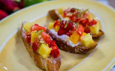 Tropical Breakfast Bruschetta