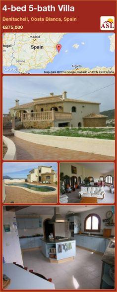 4-bed 5-bath Villa in Benitachell, Costa Blanca, Spain ►€875,000 #PropertyForSaleInSpain